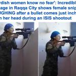 شاهد بالفيديو : نجاة قناصة من موت محقق على يد عناصر داعش
