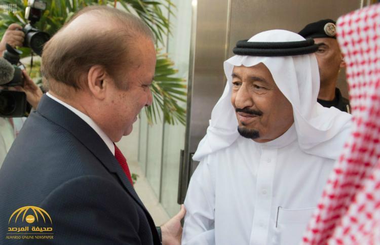 بالصور : خادم الحرمين الشريفين يستقبل رئيس وزراء باكستان