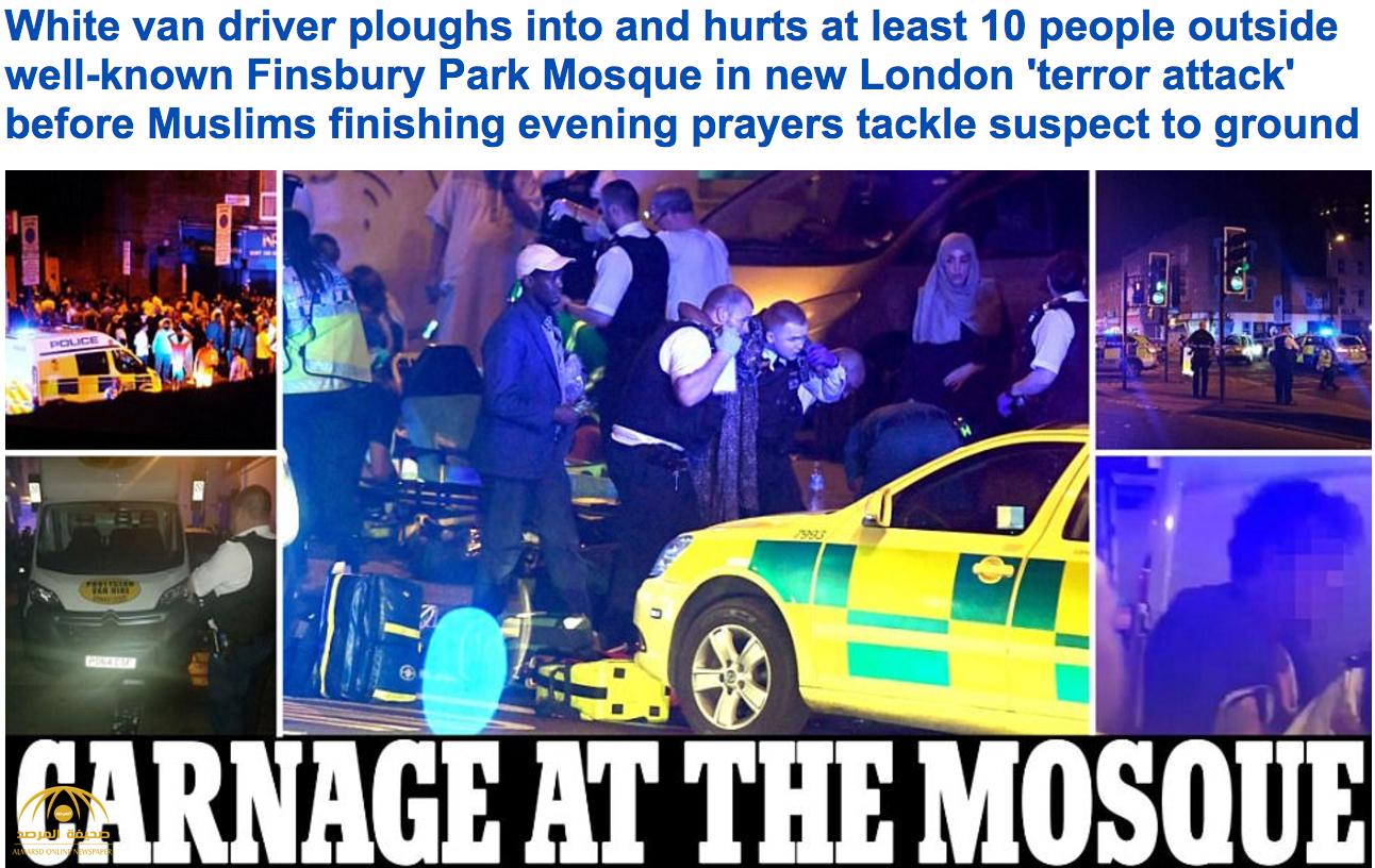قتلى وجرحى بحادثة دهس مصلين في لندن-صور