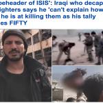 فيديو مرعب:شخص يقطع رأس 50 من مقاتلي داعش وهم أحياء..من هو..ولماذا فعل ذلك؟