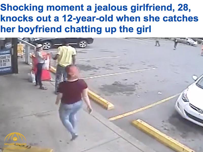 فيديو.. الغيرة القاتلة: أراد التحدث لفتاة ..شاهد كيف كان رد فعل صديقته !