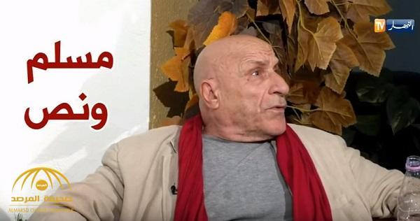 """شاهد الروائي الجزائري المُجاهر بالإلحاد """"رشيد بوجدرة"""" يتوعد قناة أجبرته على نطق الشهادتين!"""