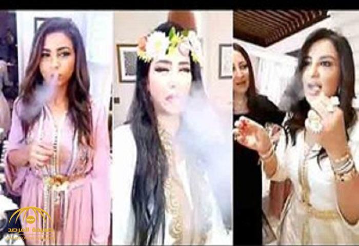 شاهد: لجين عمران تخرج دخان من فمها… وهذا ما فعلته في حفل إفطار للمرة الأولى!