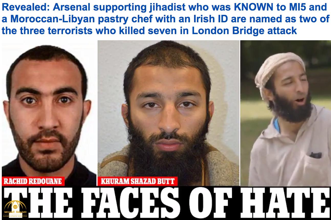 الشرطة البريطانية تكشف عن جنسية و أسماء اثنين من منفذي اعتداءات جسر لندن-فيديو