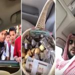 نهاية غير متوقعة..شاهد: ماذا حدث لمواطن قرر توزيع شيكولاته وفلوس عيدية على المارة؟!