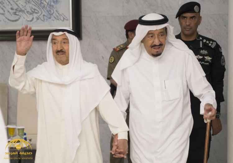 بالصور : خادم الحرمين الشريفين يستقبل أمير دولة الكويت