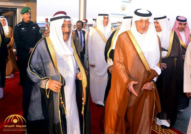 بالصور : أمير الكويت يصل إلى جدة