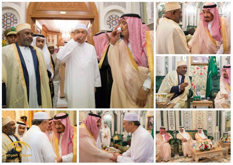 بالصور : خادم الحرمين الشريفين يستقبل رئيس جمهورية القمر و نائب رئيس الوزراء في ماليزيا