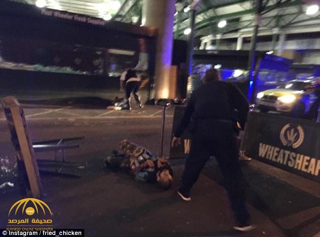 شاهد: صورة جثة أحد إرهابي لندن مرتديا الحزام الناسف
