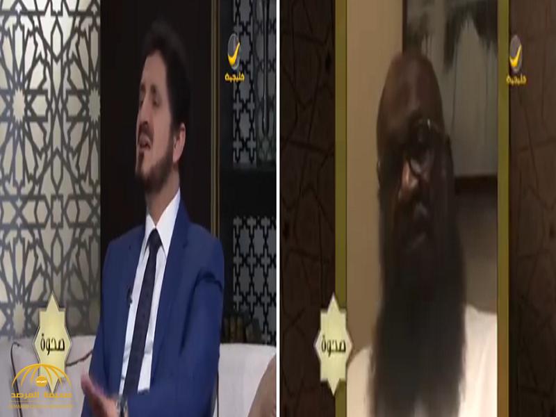 """بالفيديو: """"الكلباني"""" يتهم عدنان إبراهيم على الهواء.. والأخير يرد!"""