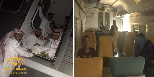 بالفيديو والصور .. حالات إغماء واختناق بين ركاب رحلة القصيم – الرياض بعد تعطل قطار سار