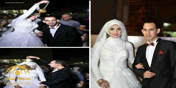 صور: وفاة مصرية أثناء حفل زفافها وهي ممسكة بيد عريسها عند دخول قاعة الحفل