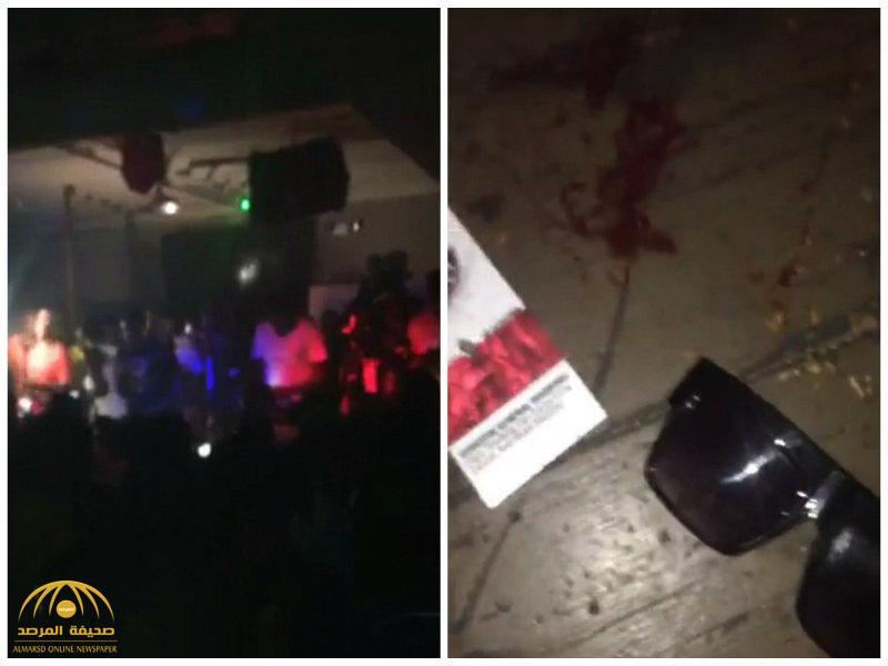 شاهد:لحظة إطلاق نار بملهى ليلي في ولاية أركنساس الأمريكية وإصابة 17 شخص