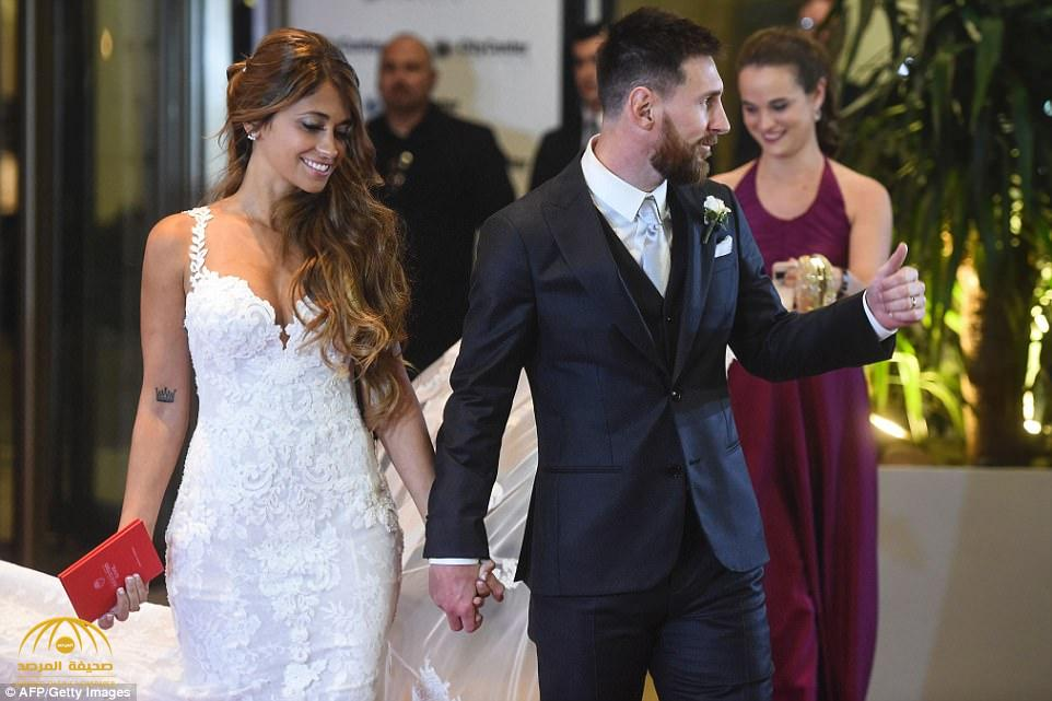 شاهد: أشهر نجوم كرة القدم في العالم أثناء حضورهم حفل زفاف ميسي- صور