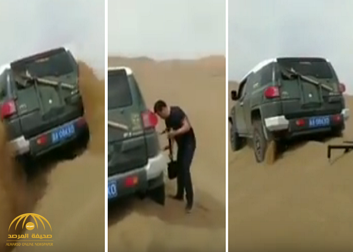 """بالفيديو: قطعة صينية بسيطة تجعلك من المستحيل أن """"تغرز"""" في الصحراء"""