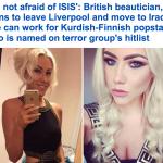 خبيرة تجميل بريطانية تسافر للعراق لمحاربة داعش وتعلنها بقوة : لست خائفة