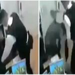 شاهد لحظة اعتداء الشرطة البريطانية على مسلمة خلال التحقيق معها