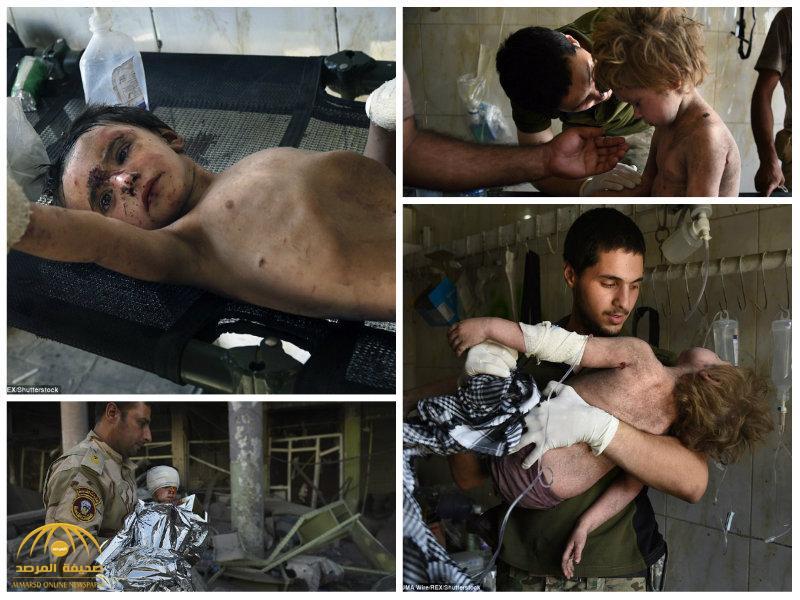شاهد بالصور لحظة العثور  على 3 أطفال تحت الأنقاض  بعد تحرير الموصل!