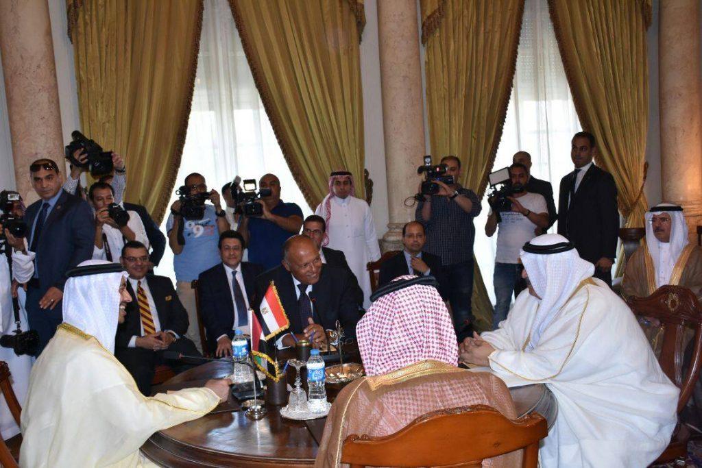 بالفيديو: بدء اجتماع وزراء خارجية الدول الأربع بالقاهرة للرد على الرفض القطري للمطالب!