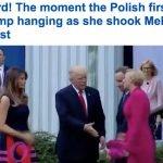 شاهد : سيدة بولندا الأولى تضع ترامب في موقف محرج!