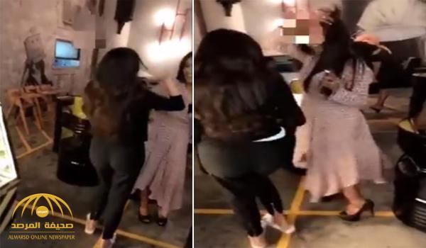 بالفيديو: رقص مريم حسين مع العنود الحربي في حفل خطوبتها