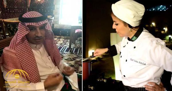 شاهد .. طباخة سعودية تقود مطبخ مطعم بالرياض ووزير العمل يفاجئهم بزيارة