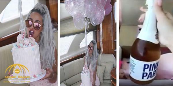شاهد: العارضة السعودية روز تحتفل بعيد ميلادها على متن يخت فاخر .. وزجاجة خمر هدية تثير الجدل !