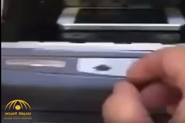بالفيديو:رد فعل مواطن سحبت ماكينة صراف جواله!