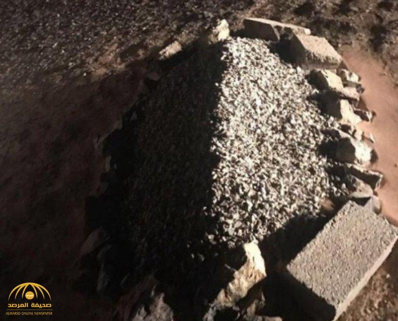 """الجهات الأمنية تحقق في لغز """"القبر الغامض"""" بصحراء عفيف.. ومواطن يكشف حقيقته!"""