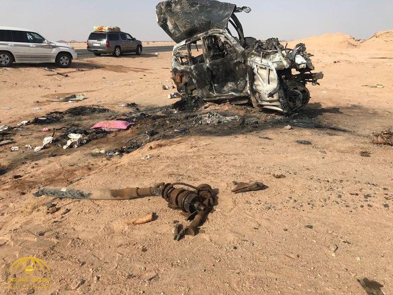 حادث مروع.. مصرع 11 شخصاً بينهم 7 من عائلة واحدة على طريق الرين – بيشة (فيديو وصور)