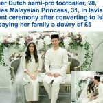 شاهد بالصور : لاعب كرة قدم هولندي يعتنق الإسلام  ويتزوج أميرة ماليزية .. هكذا بدأت قصة الحب !