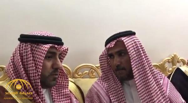 """بالفيديو : شاهد لحظة شفاعة الأمير """"تركي بن عبدالله"""" في طلب العفو من قاتل ابن محمد الروابي"""