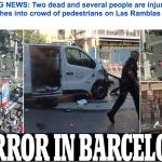 بالفيديو والصور .. سيارة تدهس العشرات وسط مدينة برشلونة