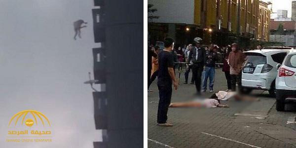 شاهد لحظة انتحار شقيقتين من أعلى برج سكني .. بعد اكتشاف هذا السبب !