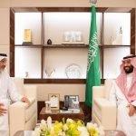 نائب خادم الحرمين يستقبل الشيخ عبدالله بن علي بن جاسم آل ثاني..هذه تفاصيل الزيارة – فيديو