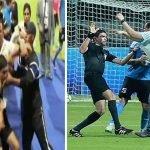 شاهد .. لاعبو الفيصلي الأردني يعتدون بالضرب على الحكم في نهائي البطولة العربية