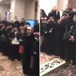 شاهد بالفيديو: استقبال اسطوري لحليمة بولند من بنات الرياض..وحراسة مشددة ترافقها!