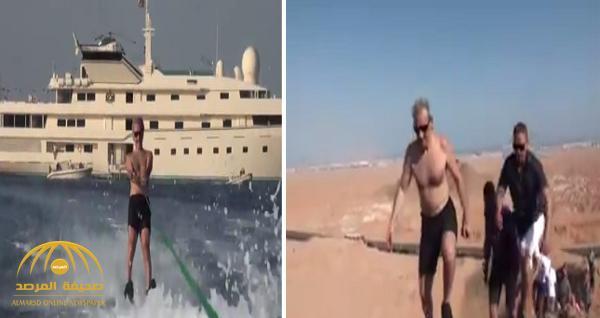 شاهد .. الوليد بن طلال يتزلج على الماء ويتسلق الجبال في شرم الشيخ