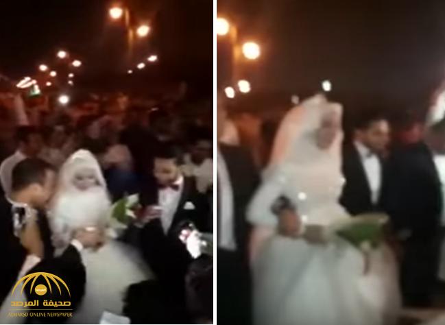 بالفيديو: عريس يزف عروسته بممشى الروضه بالرياض.. شاهد ردة فعل المتجمهرين!