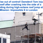 """شاهد: قفزة خطيرة كادت أن تنهي حياة """"توم كروز"""" أثناء تصوير فيلمه """"مهمة مستحيلة"""""""