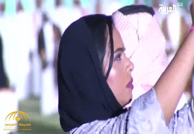 f34518b5573e7 شاهد بالفيديو  للمرة الأولى..حضور المرأة السعودية في الملاعب ...