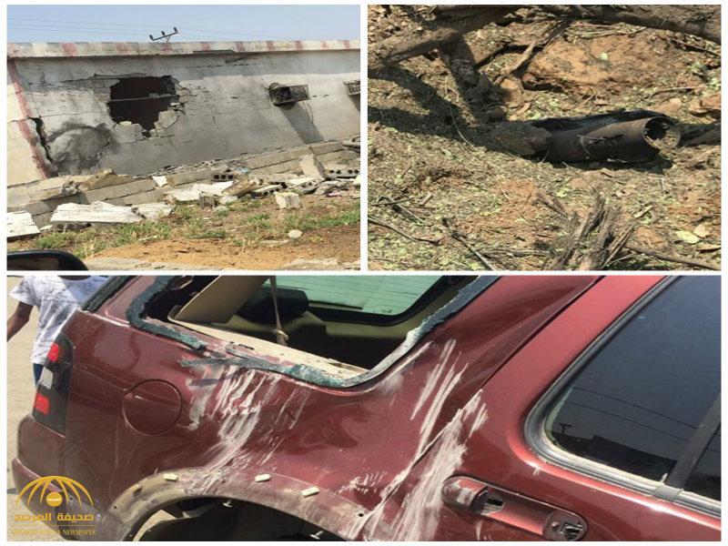 بالصور: سقوط ثلاثة مقذوفات حوثية على العارضة .. أحدها على مدرسة بنين !