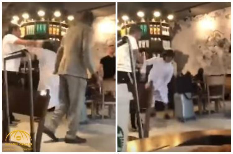 شاهد بالفيديو : مطار الكويت يتحول إلى حلبة مصارعة !