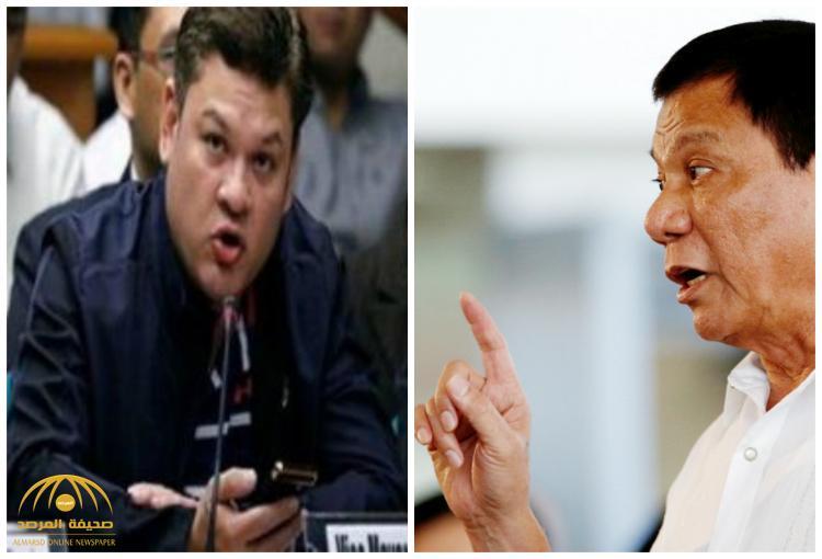 وشم ظهره فضحه.. اتهام نجل رئيس الفلبين بتهريب شحنة مخدرات من الصين