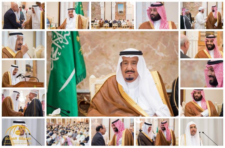 بالفيديو و الصور : خادم الحرمين يقيم حفل الاستقبال السنوي لأصحاب الفخامة والدولة وكبار الشخصيات الإسلامية