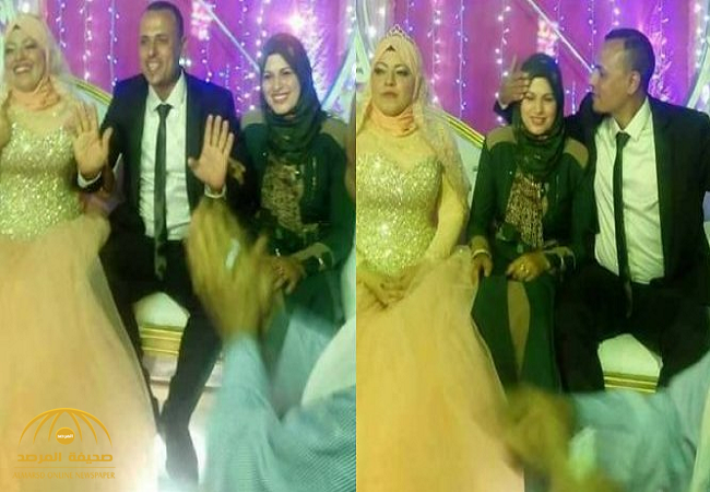 """مصري يحضر زوجته خلال زفافه الثاني ويجلسها إلى جانب """"ضُرّتها"""".. شاهد ردّة فعل العروس!"""