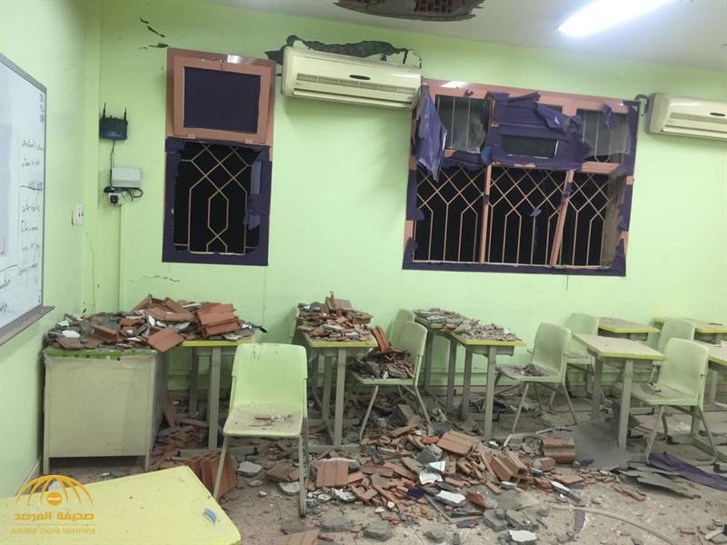 شاهد.. الحوثيون وبدعم من إيران يطلقون مقذوفات على مدارس ومنازل في نجران من الأراضي اليمنية