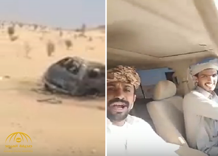 شاهد.. سائق وزميله يوثقان لحظة وفاتهما في حادث مروع على طريق الرين