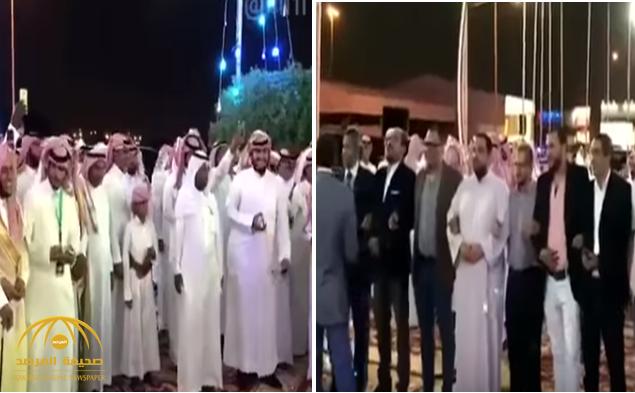 """بطريقة طريفة .. شاهد احتفالية معلمين وافدين بزميلهم """"السعودي"""" يوم زفافه !"""