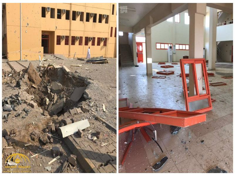 شاهد بالصور :كيف تستهدف الميليشيات الحوثية الأماكن المدنية بصاروخ أرض-أرض في صامطة